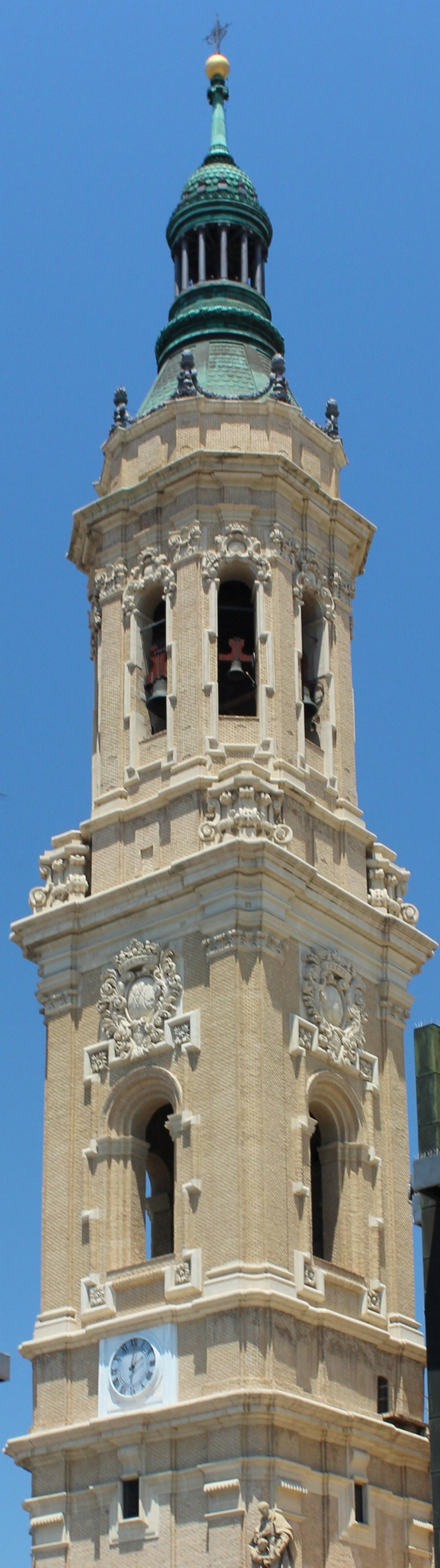 THE BELL TOWER OF THE BASILICA DEL PILAR